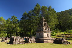 The Sixth Temple of Gedongsongo. Shoot of 6th Temple of Gedongsongo, with smaller ruins nearby Stock Image
