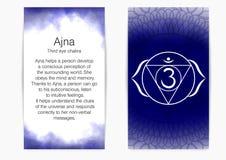 Sixth, third eye chakra - Ajna. stock illustration