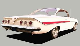 Sixties American Classic. A sclalable vector illustration of a sixties American classic car Royalty Free Stock Images
