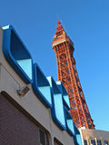 Sixties Architecture,Blackpool. Sixties Architecture with Blackpool Tower royalty free stock photo