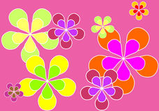 Sixties background. Psychedelic swinging sixties background - Vector Stock Photo