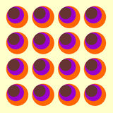 Sixties circles Vector. Psychedelic swinging sixties background with circles - Vector Stock Images