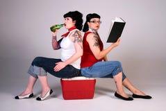 Sixties fashion girls. stock image