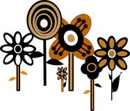 Sixties floral wallpaper Stock Image