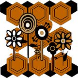 Sixties flower patterns royalty free stock images