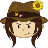 Sixties Flower Power Hippie Boy Royalty Free Stock Image
