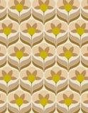 Sixties flower wallpaper Stock Photography