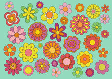Sixties flowers Stock Photo