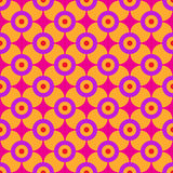 Sixties Geometric Pattern. Minimalist floral geometry from the sixties Royalty Free Stock Photography