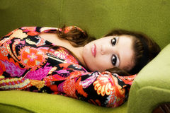 Sixties Girl Royalty Free Stock Photography