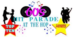 Sixties  hit parade design. Conceptual design for sixties era Royalty Free Stock Photos