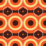 Sixties orange retro vector illustration