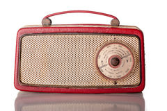 Sixties Red Portable Transistor Radio Royalty Free Stock Photography