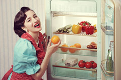 Sixties refrigerator advertising Royalty Free Stock Photo