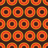 Sixties retro brown. Seamless sixties repeat design in brown and orange Stock Images