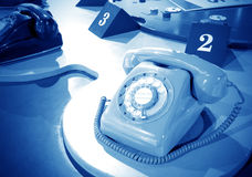 Sixties rotary dial telephone Royalty Free Stock Photography