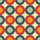 Sixties seamless pattern Stock Photography