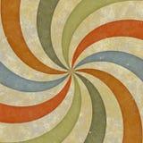 Sixties style grungy sunburst swirl. Sixties or early seventies retro grungy sunburst swirl Stock Photos