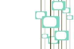 Sixties TVs. Turquoise and brown retro pattern with room for text vector illustration