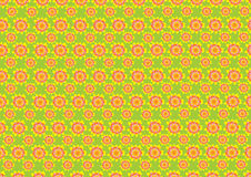 Sixties wallpaper pattern. Flowery repeat pattern Royalty Free Stock Photography