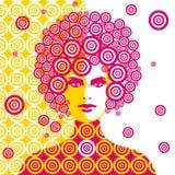 Sixtieskvinnaillustration Royaltyfria Bilder