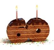 Sixtieth birthday or anniversary cake Royalty Free Stock Image