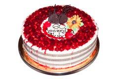 Sixtieth wedding anniversary cake Royalty Free Stock Image