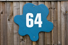Sixty four street number Stock Image