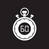 Sixty minute stop watch countdown. A sixty minute stop watch countdown royalty free illustration