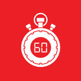 Sixty minute stop watch countdown. A sixty minute stop watch countdown stock illustration