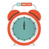 Sixty Minutes Stop Watch - Alarm Clock Stock Images