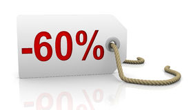 Sixty percent discount Royalty Free Stock Images