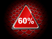 Sixty percent discount background Stock Images