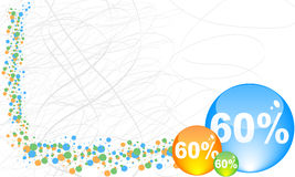 Sixty percent discount background Royalty Free Stock Photography