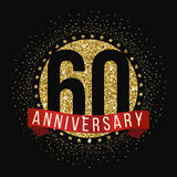 Sixty years anniversary celebration logotype. 60th anniversary logo. Royalty Free Stock Photo