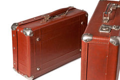Sixty years old suitcases Stock Photos