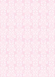 A4 size elegant pink flowers pattern textured wallpaper Stock Photography