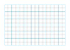A9 size graph paper. Standard dimension of A9 size graph paper grid lines, vector graphic artwork design element royalty free illustration