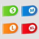 Size Labels Royalty Free Stock Image
