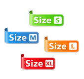 Size Labels Stock Photos