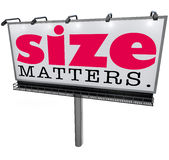 Size Matters Billboard Biggest Large Choice Most Successful Impo Royalty Free Stock Photos