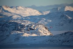 The size of nature. South Greenland travelling Royalty Free Stock Photo