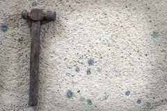 The size of the old hammer type - stock image Stock Image