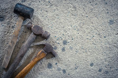 The size of the old hammer type - stock image Stock Images