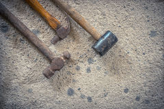 The size of the old hammer type - stock image Royalty Free Stock Image