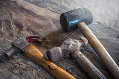 The size of the old hammer type - stock image Royalty Free Stock Images