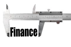The size of our finances Royalty Free Stock Photo