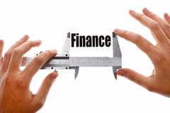 The size of our finances Stock Photo
