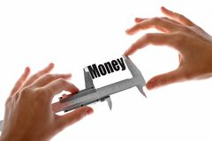 The size of our money Royalty Free Stock Photos