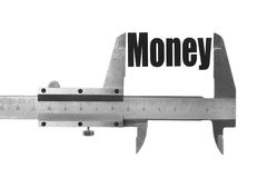 The size of our money Royalty Free Stock Photo